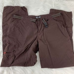 Rei UPF 30+ Brown Cargo with Belt Hiking Pants 10